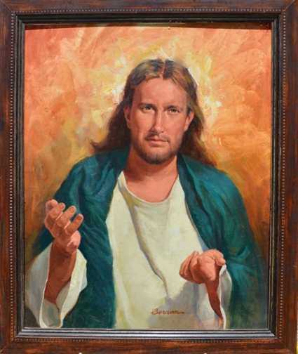 --Jesus Come To Me -  Framed Oil on Board