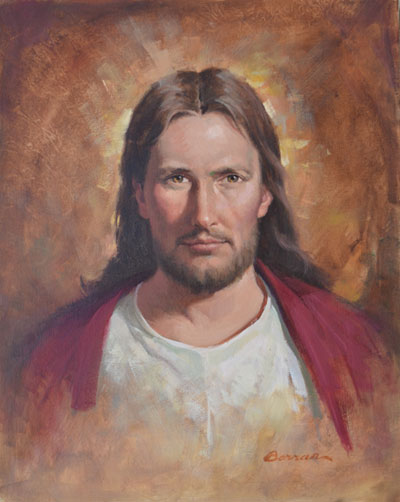 --Jesus Head & Shoulders - Oil on Canvas