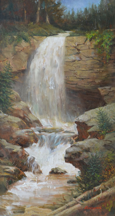 --Waterfall Highlands, N.C. - Oil on Canvas
