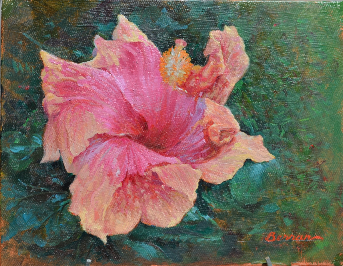 --Hibiscus Flower 11x14 Oil on Canvas Original