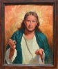 Jesus Come To Me -  Framed Oil on Board