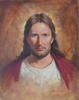 Jesus Head & Shoulders - Oil on Canvas